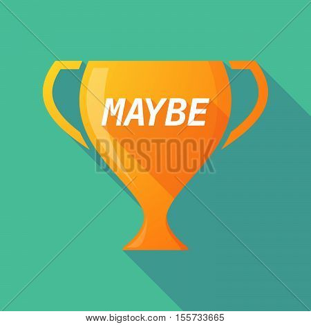 Long Shadow Award Cup With    The Text Maybe