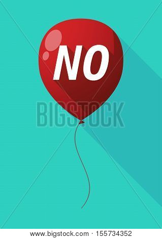 Long Shadow Balloon With    The Text No