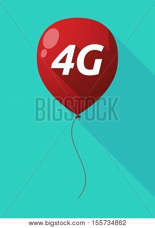 Long Shadow Balloon With    The Text 4G