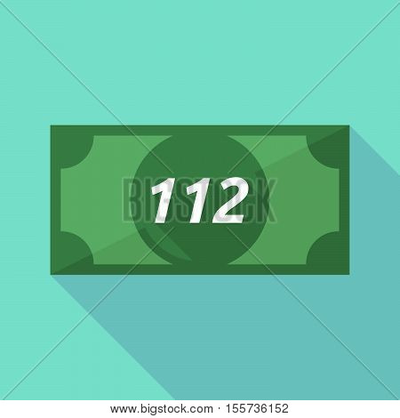 Long Shadow Bank Note With    The Text 112