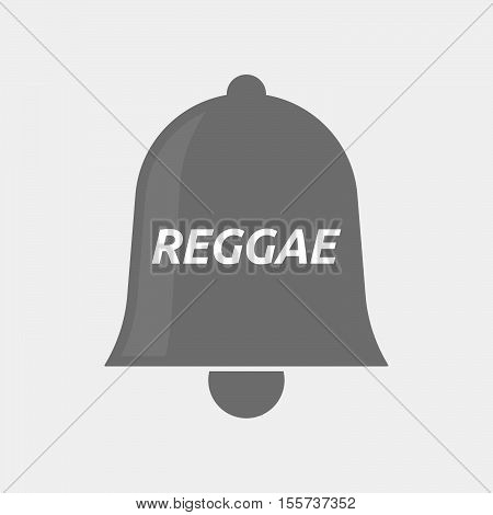 Isolated Bell Icon With    The Text Reggae
