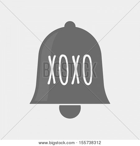 Isolated Bell Icon With    The Text Xoxo