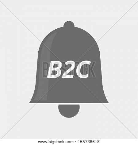 Isolated Bell Icon With    The Text B2C