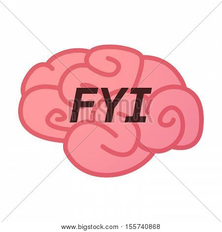 Isolated Brain Icon With    The Text Fyi