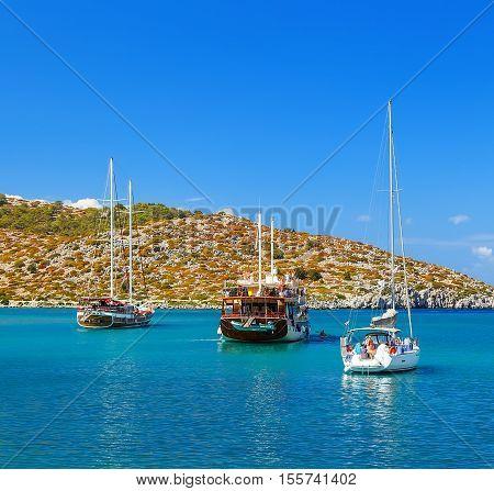 Symi Simi island , Dodecanese, Greece on June 3 2015