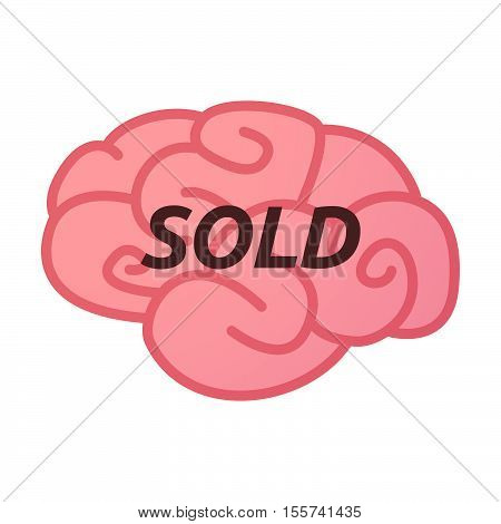 Isolated Brain Icon With    The Text Sold