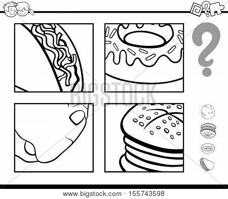 Guess Food Objects Coloring Book
