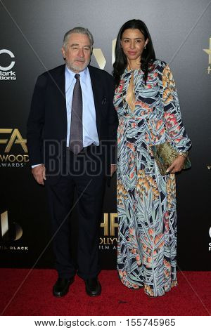 LOS ANGELES - NOV 6:  Robert De Niro, Drena De Niro at the 20th Annual Hollywood Film Awards  at Beverly Hilton Hotel on November 6, 2016 in Beverly Hills, CA