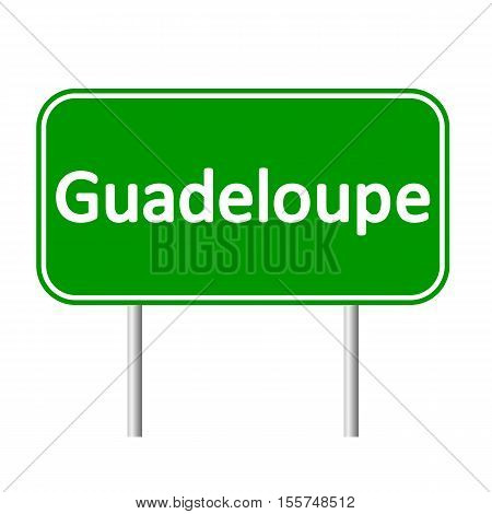 Guadeloupe road sign isolated on white background.