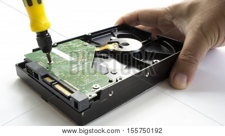 HDD harddisk file save record hardware broken