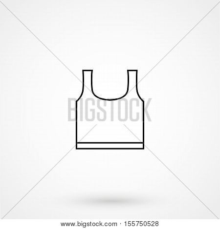 Body Vest Breastplate Armor Line Art Icon For Games And Websites