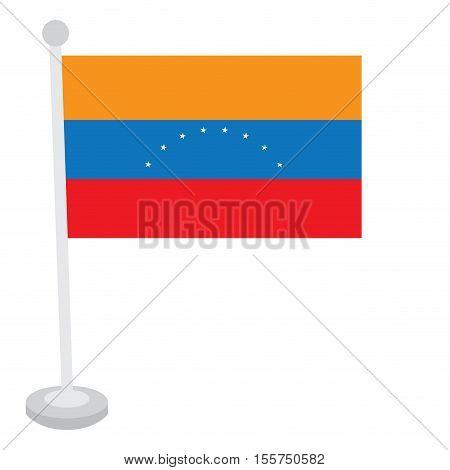 Isolated Venezuelan Flag
