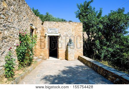 Crete, Greece - June 15, 2006: The Museum in the El Greco birthplace in the Fodele village