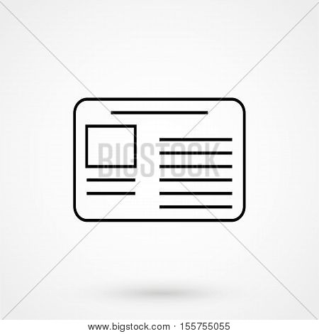 Newspaper Icon Thin Line For Web And Mobile, Modern Minimalistic Flat Design. Vector Dark Grey Icon