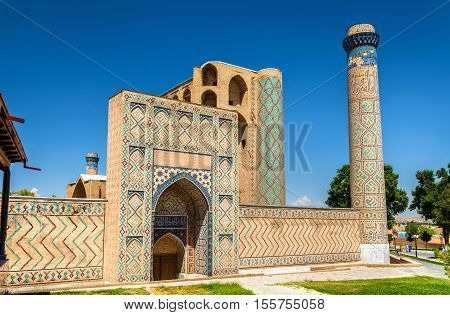 View of Bibi-Khanym Mosque in Samarkand - Uzbekistan. Built in 15th century