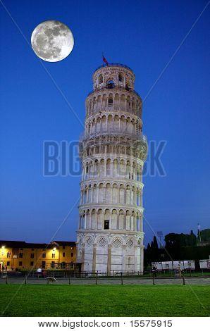 Sloping tower of Pisa