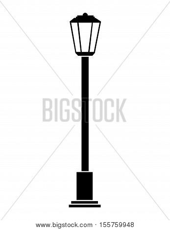 streetlight city lamp icon over white background. vector illustration