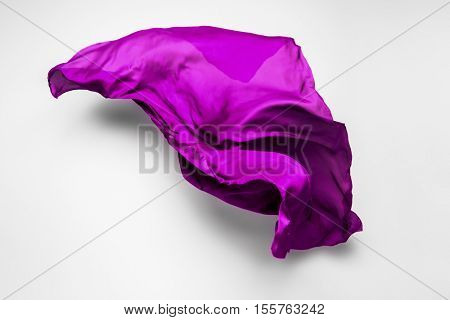 purple flying fabric - art object, design element