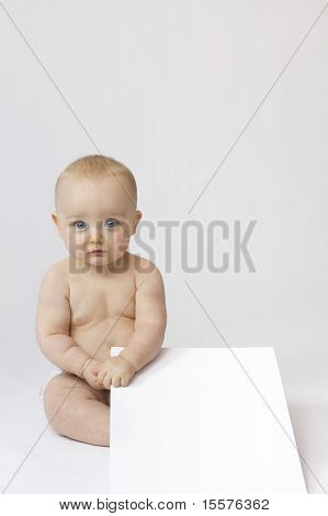 White Isolation Of Baby