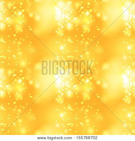 Glittery vintage yellow seamless pattern, vector background
