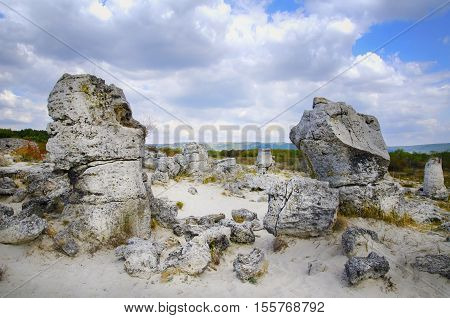 Stone Landscape and Blue Sky (Stone Forest Bulgaria)