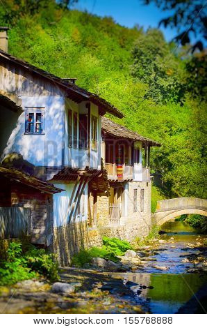 Bulgarian Old Style Wooden House at Etar