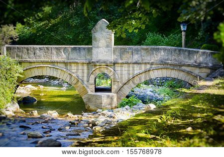 Photo of the Stone Bridge at Forest River Bulgaria