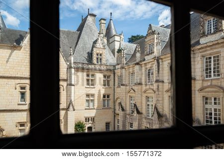 Castel of Rigny-Usse Known as the Sleeping Beauty Castle and built in the eleventh century. Loire Valley France