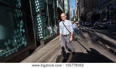 New York And New Yorkers. Manhattan Street Scene
