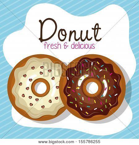 delicious donuts bakery shop vector illustration design