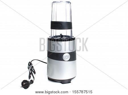 electric blender on a white background kitchen concept