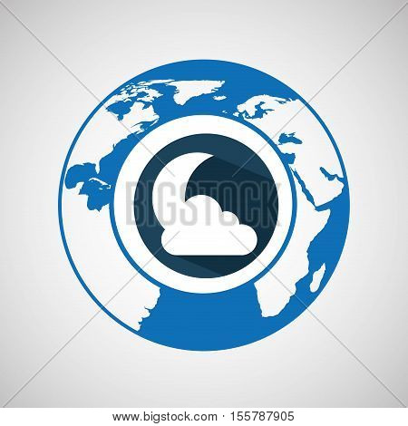 weather forecast globe with shadow icon graphic vector ilustration eps 10