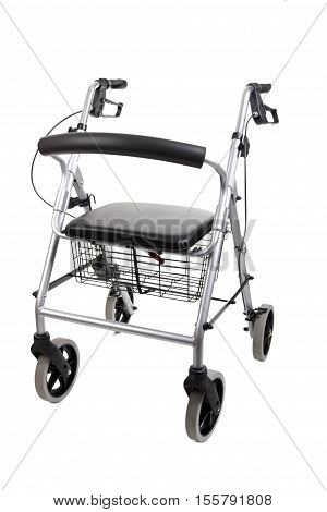 Rollator isolated on white background. Shot in Studio.