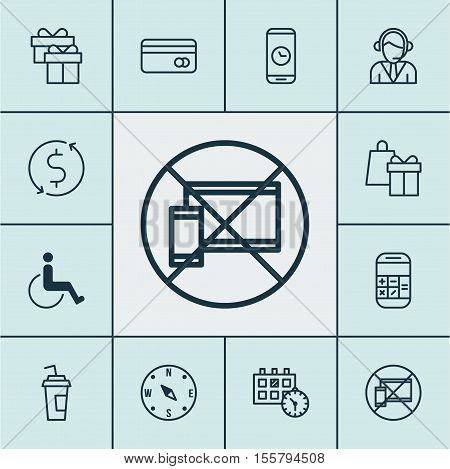 Set Of Travel Icons On Plastic Card, Shopping And Locate Topics. Editable Vector Illustration. Inclu