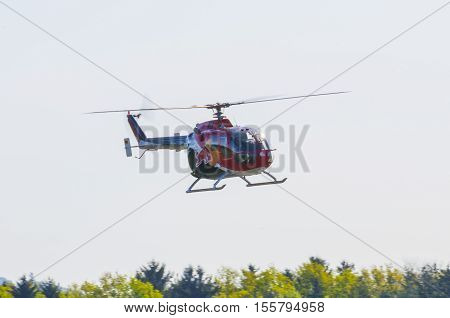 Maribor, Slovenia - April 16, 2016: Red Bull Display Team The Flying Bulls At Anual Training Camp In