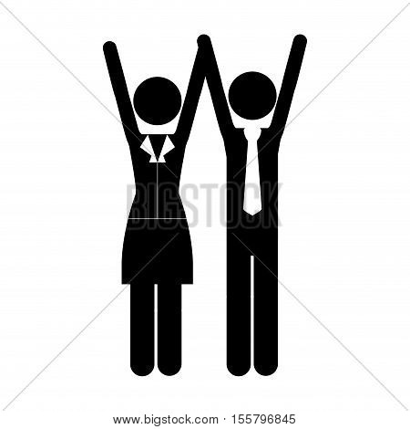 businesman and business woman icon image vector illustration design