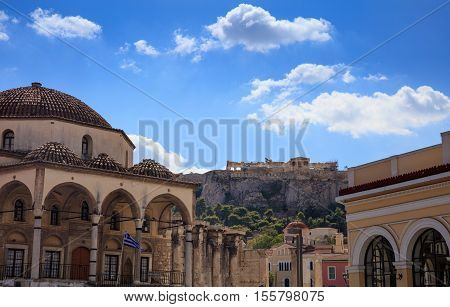 Monastiraki Square In Athens Greece