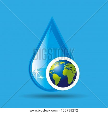 globe earth weather meteorology drop rain vector illustration eps 10
