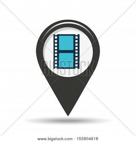 symbol cinema. icon film strip movie design vector illustration eps 10