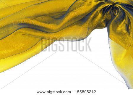 organza golden fabric texture border frame background