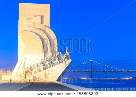 Monument to the Discoveries Lisbon Portugal Europe poster