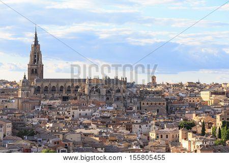 Toledo cityscape. Toledo is capital of province of Toledo (70 km south of Madrid), Spain