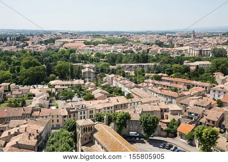 View of Carcassonne from the fortress - Languedoc France