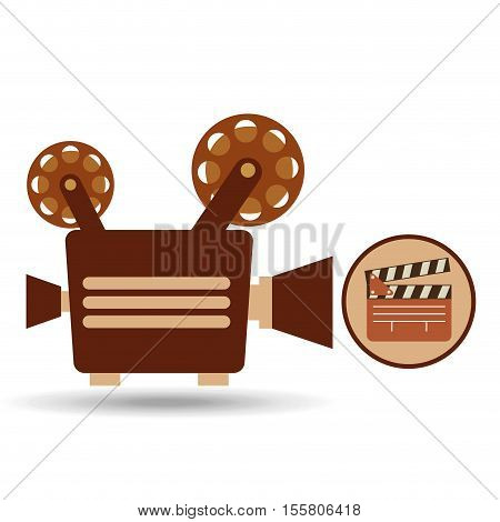 camera movie vintage clapper icon design vector illustration eps 10