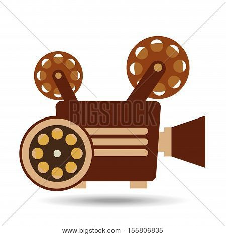 camera movie vintage film reel icon design vector illustration eps 10