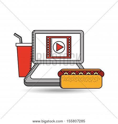 online movie fast food design vector illustration eps 10
