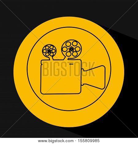 silhouette head. concept cinema camera vector illustration eps 10