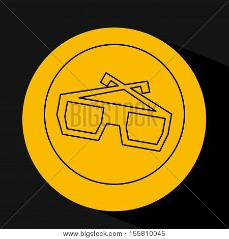 silhouette head. concept cinema glasses vector illustration eps 10