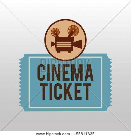 camera movie vintage ticket icon design vector illustration eps 10