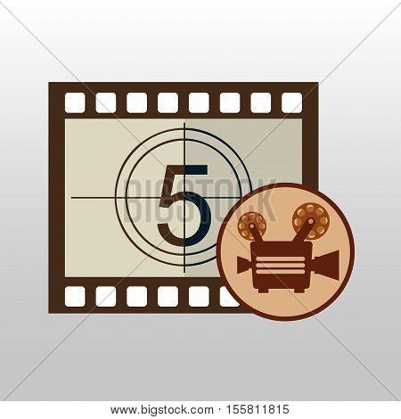 camera movie vintage counting strip design vector illustration eps 10